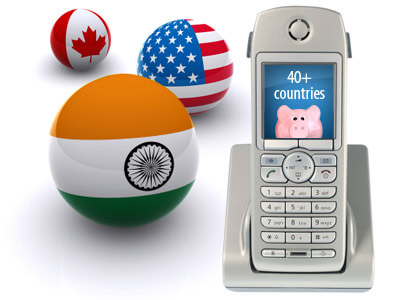 Call unlimited to over 40 countries